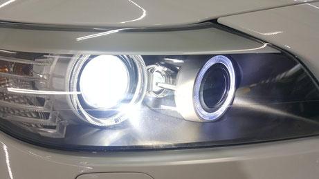 Z4のヘッドライト磨き後 ヘッドライトリペア