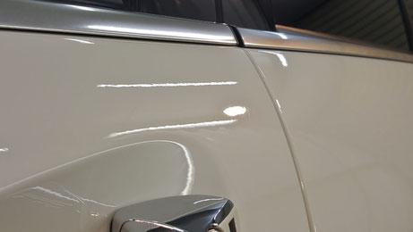 C63AMGリミテッド ドアの擦り傷除去 埼玉の車磨き専門店