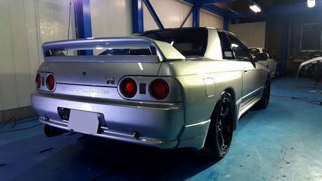 BNR32 ボディコーティング後の塗装 GT-Rの傷除去 埼玉・所沢 車磨き専門店
