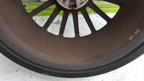 AMG・C63 ブレーキダストの焼付き ホイールの汚れ