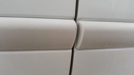トゥインゴR.S.のドアモールの黒ずみ汚れ除去・改善