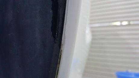RX‐8フェンダーアーチの水垢汚れ