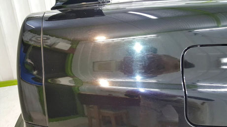 BNR34 リアフェンダーの傷 給油口付近の洗車傷 R34GT‐R