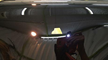 930ターボ 黒ソリッドの傷除去 白ボケ改善 フロントフェンダーの磨き