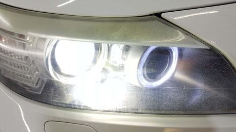 BMW・Z4のヘッドライトのひび・クラック