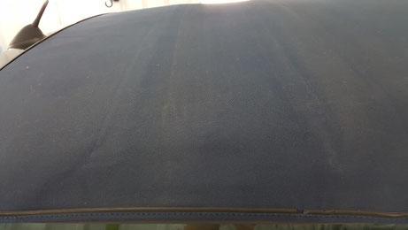 ミニカブリオレの幌の汚れ