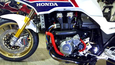 CB1300SBエンジンのコーティング 埼玉のバイク磨き・コーティング施工店