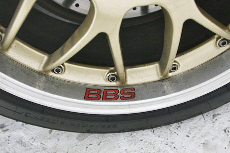 BBS・RS‐GTのブレーキダスト ホイールの鉄粉
