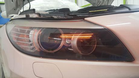 Z4のヘッドライトコーティング焼付け