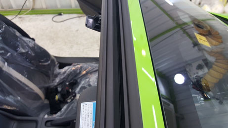 s660 幌開口部の洗浄