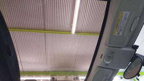 スマート451のパノラマルーフの劣化改善 透明度向上 視認性改善 埼玉の車磨き専門店