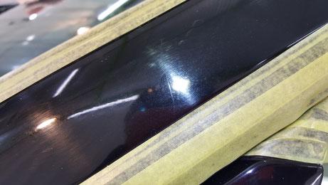 BNR34 Aピラーの傷 スカイラインGT‐R