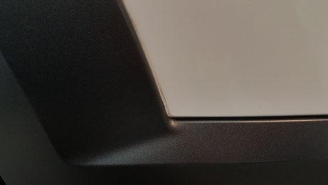 V90のフェンダー隙間の水アカ