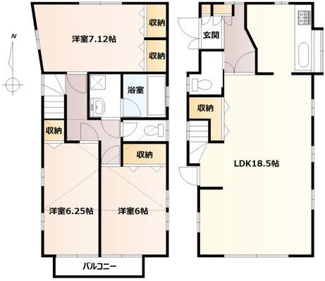 エミグランド片岡(売中古戸建て/平塚市片岡)平面図
