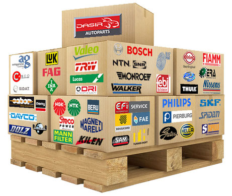 DASIR AUTOPARTS, 45 marques renommées