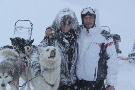 chien musher mushing berger blanc jura la pesse les bouchoux sport canin attelage