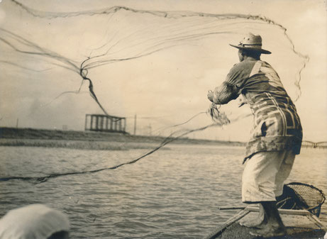 Photographie : pêcheur au Japon
