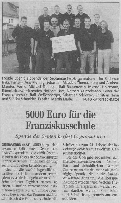 22.10.2002 Schweinfurter Tagblatt