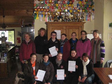 alle Teilnehmer, Referenten und Richterinnen zum Trainerlehrgang in Rheinland Nassau