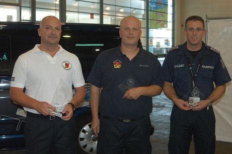 Die erfolgreichen Einsatzleiter (von links): Frank Gerhards, Dirk Schiefer und Björn Kleist