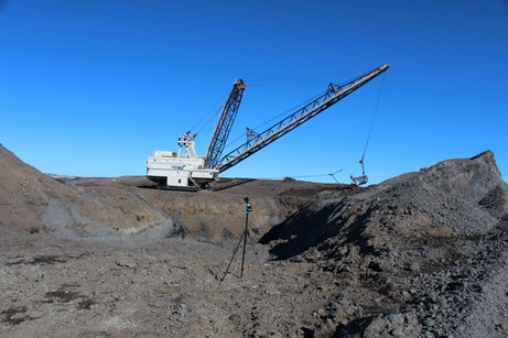 Dragline Operating at Coal Mine