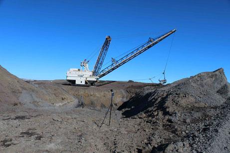 Dragline Operating at Coal Mine