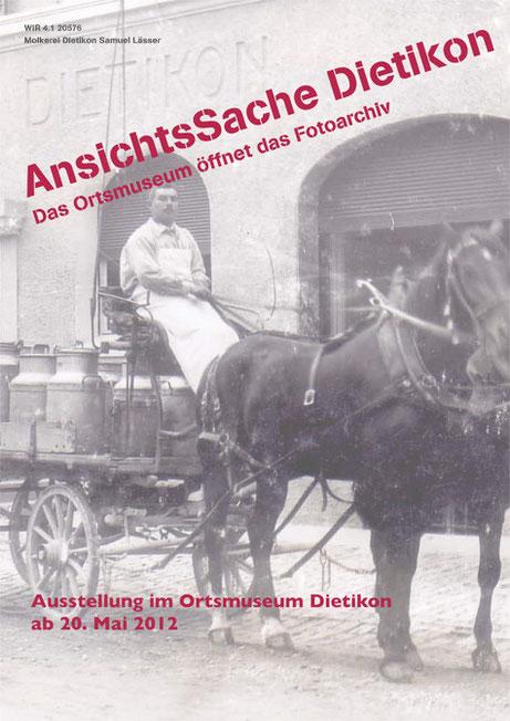 Ausstellungsflyer Ausstellung AnsichtsSache Dietikon