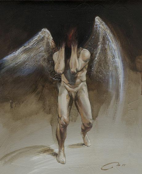 Frédéric Martin, artiste peintre, dessin, anatomie, homme, peinture contemporaine, peinture à l'huile