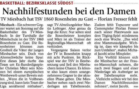 Artikel im Miesbacher Merkur am 21.10.17 - Zum Vergrößern klicken