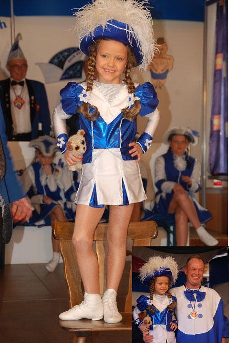 Nachwuchs Tanzmariechen Milena Sauer