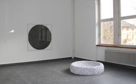 Verdichtung, 150 x 150 cm, Tusche auf Papier, 2015