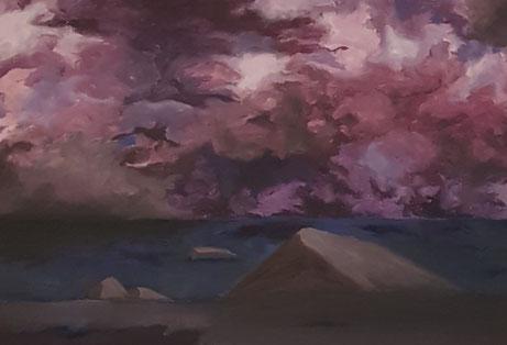 Landschaft, 2021, Acryl auf Leinwand, 70x 50 cm