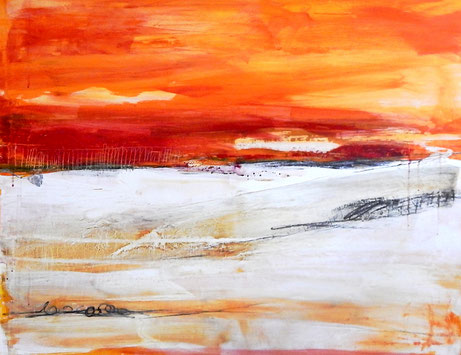 abstraktes Bild orange