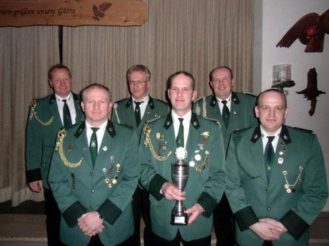 Von links: Andreas Rojer, Wilfried Bahns, Hermm Schröer, Holger Geers, Franz Hüsers und Frank Janning