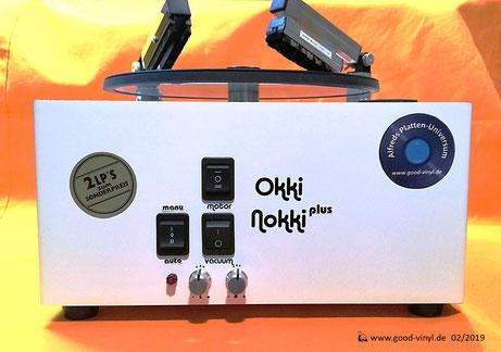 Mein Okki-Nokki Umbau, u.a. mit zwei Bürstenarmen und mit einer einstellbaren Drehteller-Automatik!