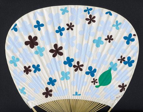 2015年作品「夏花」団扇