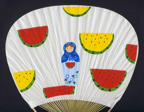 2015年作品「夏休み」団扇