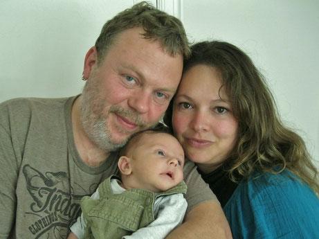Victor, Maman et Papa - septembre 2013