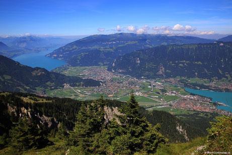 Schynige Platte - Blick auf Interlaken Thuner- und Brienzersee - 15.08.2013