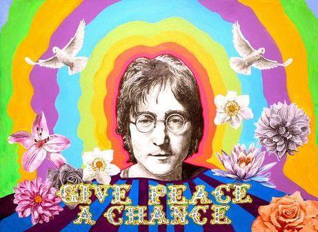 John Lennon  und Flower Power