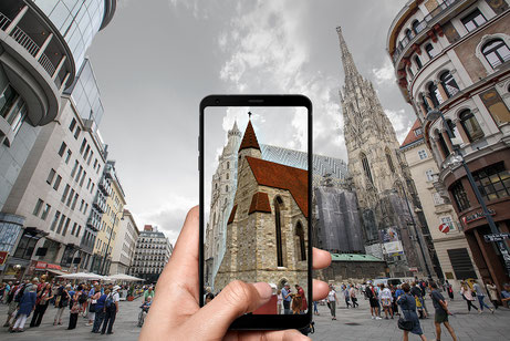 Stephansplatz AR Phone View - Franco Lanfur