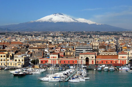 Catania with Mt. Etna