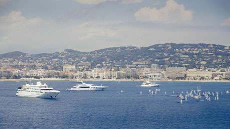 Cannes from the Sea