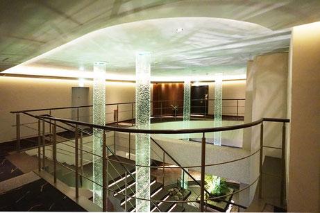 1階、2階吹き抜けエリアをセントダイレクトタワー1台で