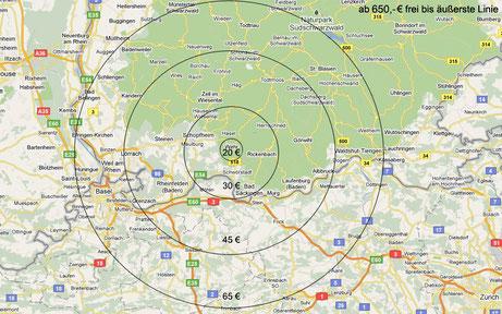 Übersicht Auslieferung (Bildquelle: Google Maps)