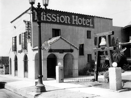 Mission Hotel : 1750 N  CAHUENGA BLVD., HOLLYWOOD, CA. Just north of Hollywood Blvd.