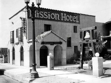 Mission Hotel : 1750 N  CAHUENGA BLVD., HOLLYWOOD, CA. Just north of Hollywood Blvd.