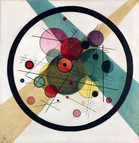 """V.V. Kandinskij, """"Cerchi in un cerchio"""""""