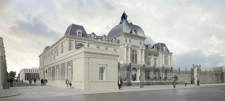 Vue du Musée de Picardie, rue de la République, après rénovation © Equipe Frenak et Jullien, Architectes, Paris