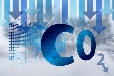 Symbolbild: Senken der Kohlenstoffdioxid Konzentration  (Bild von Gerd Altmann auf Pixabay)